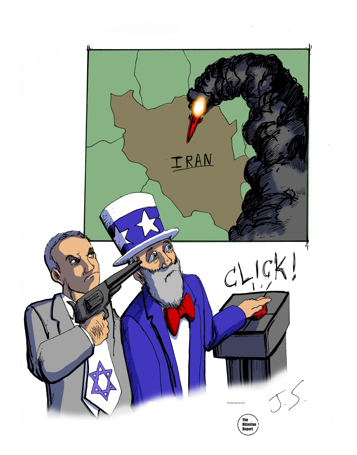 Image result for MOSSAD IN IRAN CARTOON